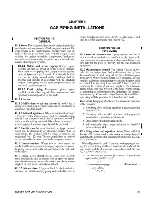 Chapter 4_Gas Piping Installations.pdf | Pipe (Fluid