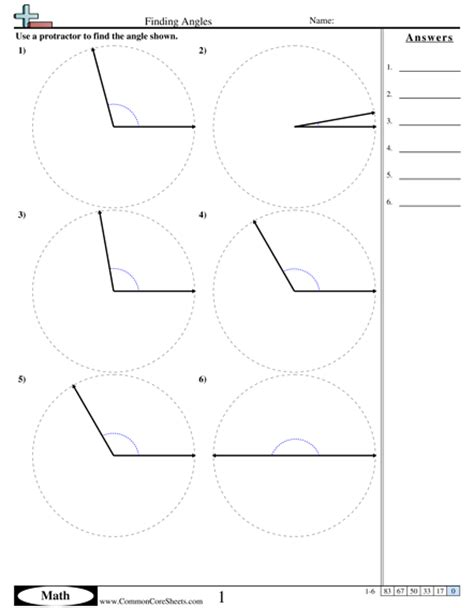 Angles Worksheets  Free Commoncoresheets