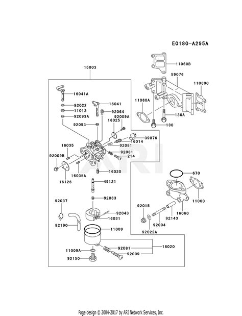 kawasaki fdv   stroke engine fdv parts diagram