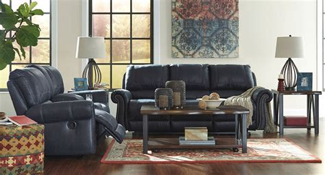 Reclining Living Room Set by Milhaven Navy Reclining Living Room Set Signature Design