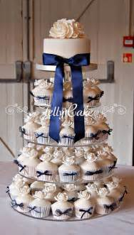 wedding cake and cupcakes navy and ivory wedding cupcakes pictures photos and images for