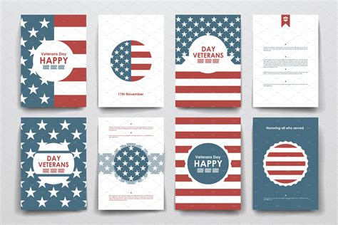 veterans day brochure templates  images card