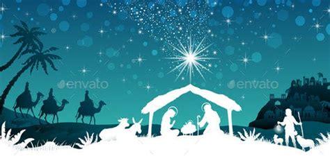 nativity silhouettes  psd ai vector eps format