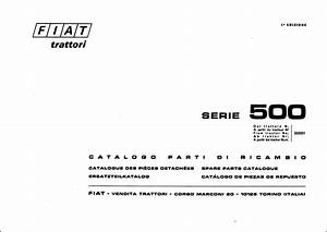 Fiat 500 Parts Manual For Service Tractor Repair