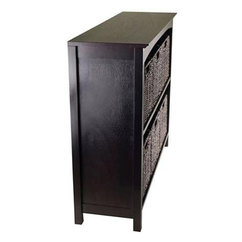 tier storage shelf  dark espresso   baskets