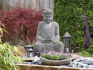 Statue Jardin Design : statue de jardin zen le bouddha ternel et l 39 art de d corer ~ Dallasstarsshop.com Idées de Décoration