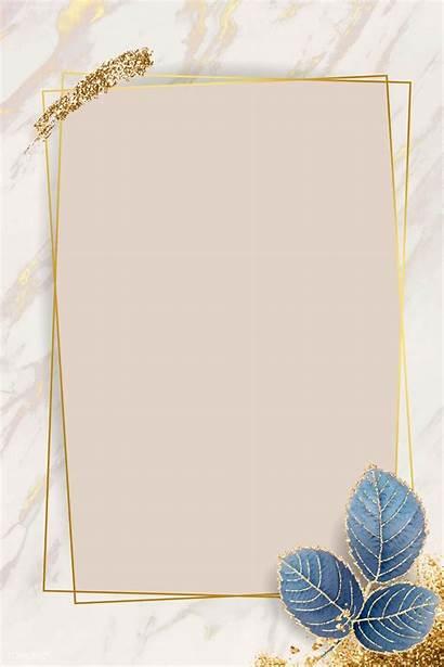 Frame Rectangle Blank Vector Premium Leafy Background
