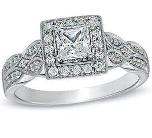 cheap halo engagement rings glamorous vintage antique halo cheap engagement ring 1 00 carat princess cut on 10k