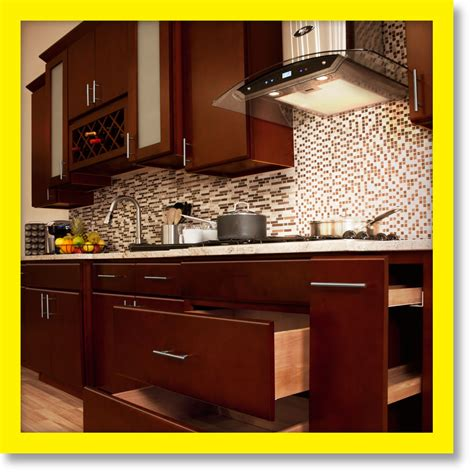 solid wood kitchen cabinets villa cherry  rta ebay