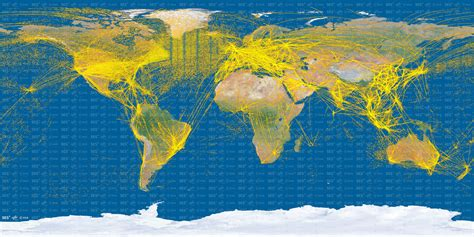proba v maps world air traffic from space