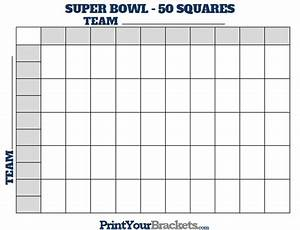 2015 super bowl 50 squares pool template autos post for Super bowl grid template