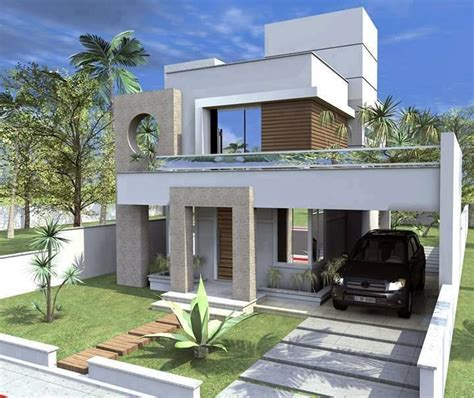 budget single family modern residential house