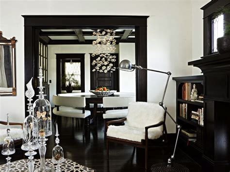 love the white cream paint wall colors with dark floors