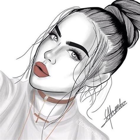 image result  tumblr girl draw cute