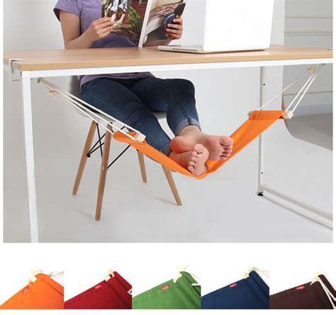 foot rest hammock footrest desk office adjustable foothold wood ebay