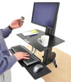 ergotron 33 344 200 workfit s adjustable standing desk mount computer workstation