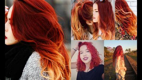 cabelo ombre hair fire degrade vermelho cachos ii