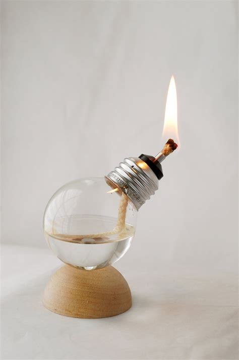 unique mini ls made from recycled light bulbs