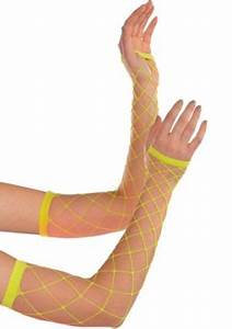 Neon Fishnet Arm Warmers Party City