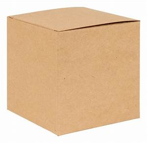 Basics Kraft Natural Flat Packed Cube Gift Box 100mm