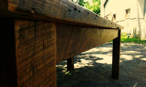 Primitive Farmhouse Table From Antique Reclaimed Wood