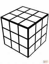 Cube Coloring Geometric Rubic Rubik Rubiks Printable Draw Animal Results Categories Worksheets Adult Printables sketch template