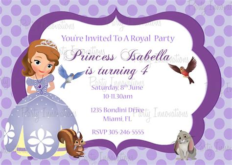 princess party invitations   home