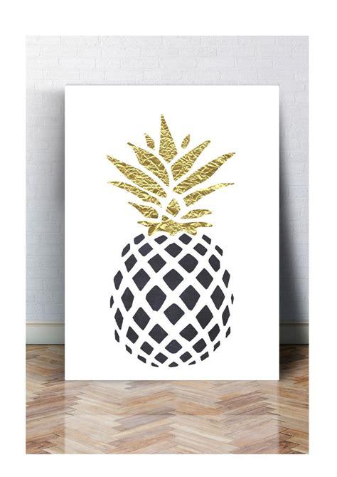 druck fineart bild poster ananas black print