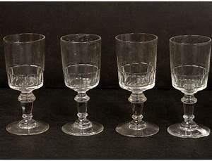 6 stemware liquor antique crystal glass french nineteenth ...  Glass