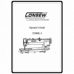 Instruction Manual  Consew 255rbl