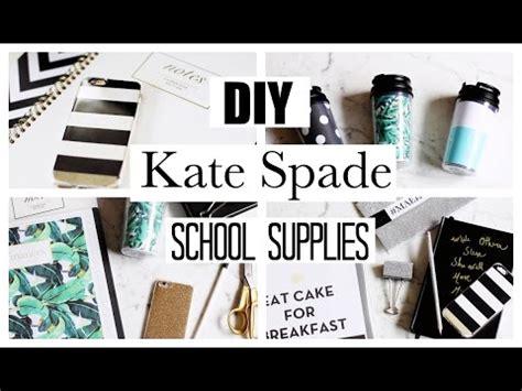 Diy School Supplies! Kate Spade Inspired! Youtube