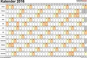 Kalender Zum Ausdrucken 2016 : kalender 2016 in excel zum ausdrucken 16 vorlagen chainimage ~ Whattoseeinmadrid.com Haus und Dekorationen