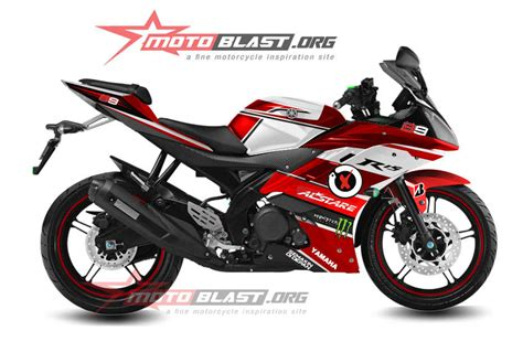 decal desain baru untuk yamaha r15 merah jorge lorenzo mantap motoblast