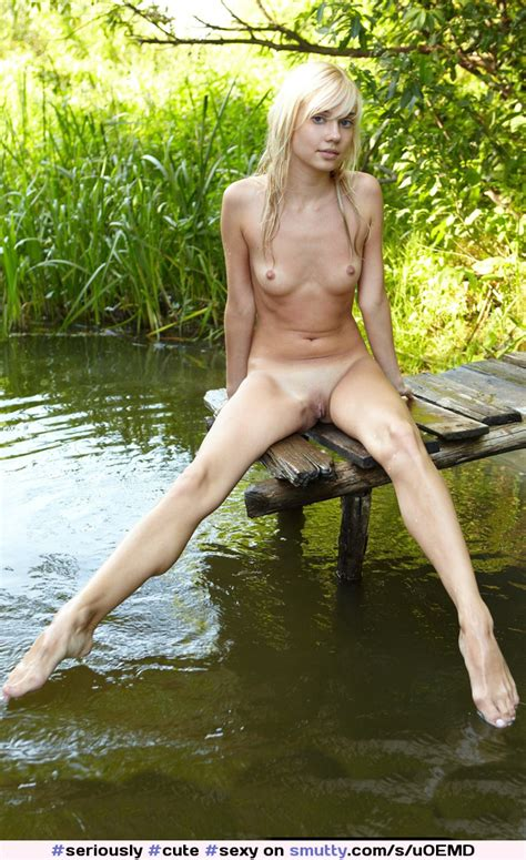 Cute Sexy Hot Wet Blonde Naked Nude Outdoors