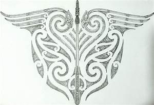 maori tribal and taiaha back tattoo design by savagewerx ...