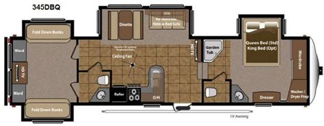 5th wheel cers with bunk beds montana fifth wheel floor plans with two bathrooms