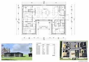 Plan Maison U : maison u 130 m plan u pinterest plans plans maison ~ Dallasstarsshop.com Idées de Décoration