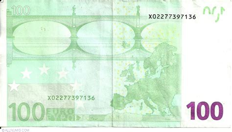 canap 100 euros 100 x germany 2002 issue 100 signature