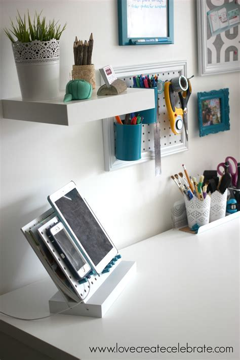Peg Board Desk Organizer   Office Ideas   Pinterest   Desk