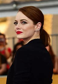 Emma Stone Hair with Red Lipstick