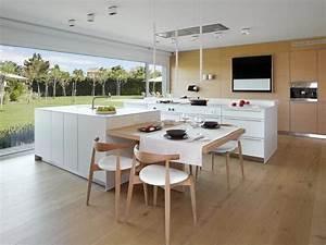 Amenager sa cuisine 15 ilots de cuisine avec coin repas for Superior piscine avec ilot central 5 amenager une cuisine dans une veranda travaux