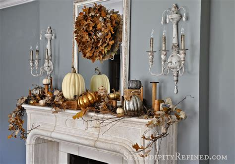Decorating Themes : 24 Best Fall Mantel Decorating Ideas And Designs For 2019