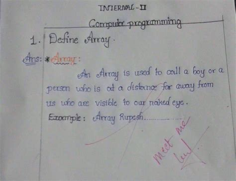 Define Answer by Ramnath Dhandapani On Quot Define Array Hilarious