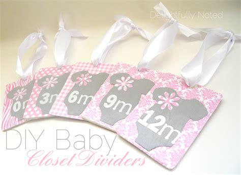 baby closet dividers handmade baby gifts diy baby closet dividers