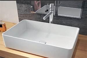 Bad Unterschrank Für Aufsatzwaschbecken : mineralguss aufsatzwaschbecken minimal 580x370x130mm ~ Frokenaadalensverden.com Haus und Dekorationen