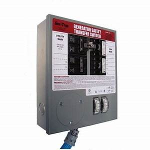 House Wiring Diagram  Generator Transfer Switch