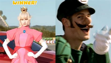 Real Princess Peach And Luigi Star In Mercedes Gla