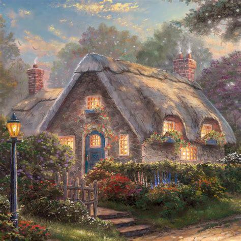 kinkade cottage paintings lovelight cottage limited edition kinkade