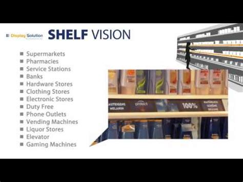 digital signage shelf vision multi lcd lines  pos