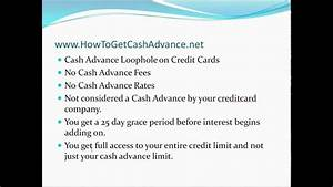How to get (a REAL) Cash Advance -No Payday loans ...